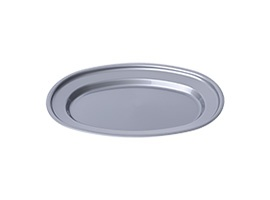 Oval plate L,